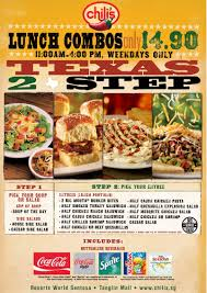 chilis customer service chilis american restaurant promotions lunch combos happy hour