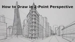 perspective drawings of buildings. Two - Point Perspective Drawing Of Buildings By Circle Line Art School Drawings 2