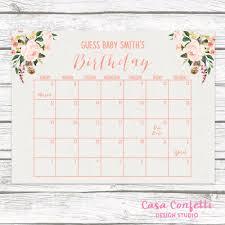 Boho Due Date Calendar Guess Babys Due Date Baby