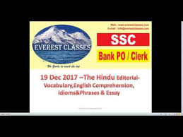 dec the hindu vocabulary english comprehension idioms  19 dec 2017 the hindu vocabulary english comprehension idioms phrases essay