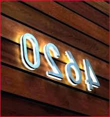 illuminated house number signs led illuminated house number signs lighted numbers solar powered address a illuminated illuminated house number signs