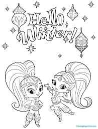 Shimmer And Shine Coloring Pages Printable Free Printable Coloring