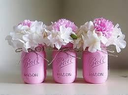 Mason Jars Decorated With Twine Pink Distressed Pint Size Mason Jars with Dainty Twine Bows Set 98