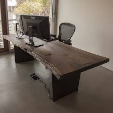 office table wood. Custom Made Live Edge Black Walnut Slab Desk Office Table Wood