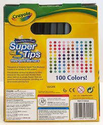 Crayola Supertips 50 Color Chart Crayola Supertips Color Chart Best Picture Of Chart
