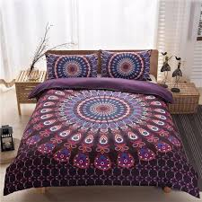 Bohemia Style Black White Purple Printing Duvet Cover Set(Quilt ... & bohemia style black white purple printing Duvet Cover set(quilt cover+pillow  case) Adamdwight.com