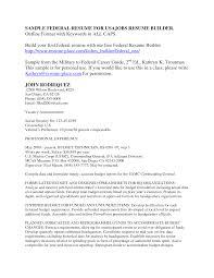 Federal Resume Builder Usajobs Resume Cv Cover Letter