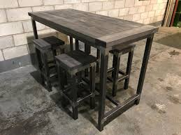 image of rustic bar table kitchrn