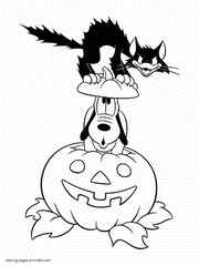 Small Picture Disney Halloween printable coloring pages