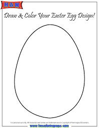 easter egg cut out.  Easter Easter Egg Template Cut Out Coloring Page In M