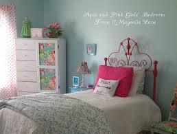 Girls Bedroom W Aqua Blue Pink Green With Paris Accents 11