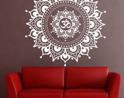 more colors mandala wall decal mandala decal  on mandala wall art with mandala wall decal etsy