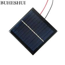 buhes 5 5v 1w solar panels cable small solar power 3 7v battery charger