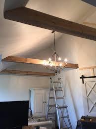 diy faux wood beams