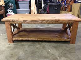 rustic coffee table plans