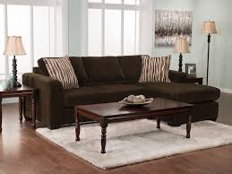 Living Room Sectionals With Chaise Nina 2 Piece Corded Microsuede Sectional With Chaise Chocolate