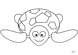 Small Picture Cartoon Sea Turtle coloring page Free Printable Coloring Pages