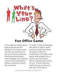 Games For The Office Whats Your Line Office Party Acting