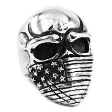 Ring For Men <b>Skull</b> Animal <b>Hardcore Punk</b> Biker Stainless Steel ...