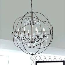 hanging glass ball solar light antique bronze orb globe chandelier 8 crystal fixture ring oil rubbed