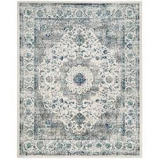 safavieh evoke gray ivory 8 ft x 10 ft area rug