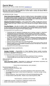 sample résumé human resources before executive resume writer dan west hr before