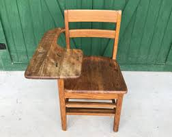 wooden school desk and chair. Antique Wood School Desk Chair Wooden And