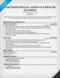 Resume Examples For Dental Assistants Pointrobertsvacationrentals