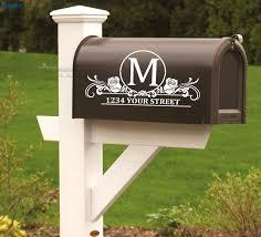 custom mailbox. Set Of 2 Custom Mailbox Address Vinyl Decal Stickers Mail Box Decor Curb Appeal