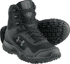 under armour tactical boots. the under armour brand of boots are made to last. upper textile is welded together for a better fit and more durable shoe. around perimeter tactical