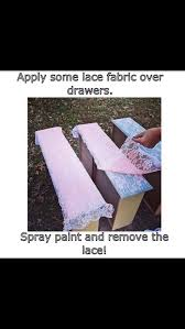 super easy and cute lace furniture