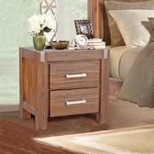 contemporary bedside furniture. Vintage Design Bedside Table - Brush Walnut Contemporary Furniture M