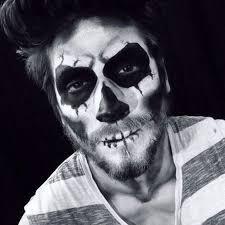 mens sugar skull makeup for