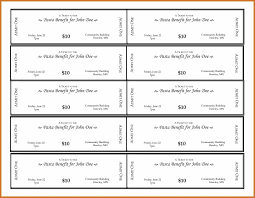 Fundraiser Ticket Template Free Download Fundraiser Tickets Template FreeExample Of Fundraiser Ticket 2
