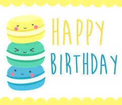 Cute Macaroon Birthday Ecard Free Happy Birthday Ecards Greeting