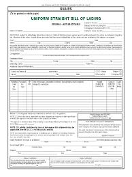 sample bol blank bol template bill of lading short form format straight free