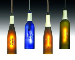 beautiful nautical wine bottle pendant lamp as well hanging light fixture candle lights