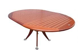 extendable round deck boat table by deckline deckline scheepsmeubelen deck line rivage tafel stoelen lamp bijzettafels