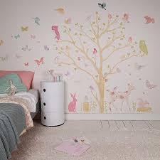 fabric wall decal forest critters