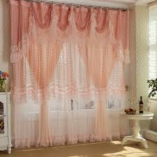 Stiffened Fabric And Lace Roller BlindsLace Window Blinds