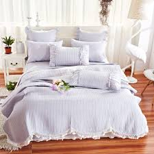 100 cotton bedspreads.  Cotton Gray Bedspreads Coverlet With Ruffles Pillowcase Cotton Summer  Bed Cover 100 Bedspread Quilt To