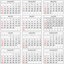 Annual Calendar 2015 12 Months Of The Annual Calendar 2015 Year