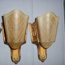 art deco slip shade wall sconce lights moe bridges pairs full sconces available expand stained glass antique lamp parts ikea lighting old industrial