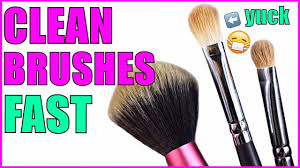 how to clean makeup brushes fast and easy how to keep makeup brushes clean diy