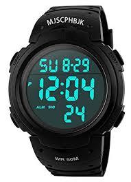 Amazon.com: MJSCPHBJK Mens Digital Sports Watch, Waterproof ...