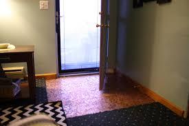 Penny Kitchen Floor Copper Penny Floor Installation Pennyfloor Pretty Purple Door