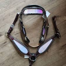 Light Up Horse Breast Collar The Mermaid Headstall Breast Collar Set Ships Now