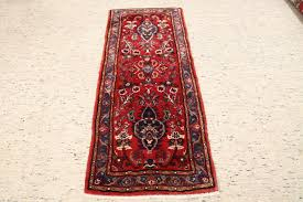 hand knotted persian carpet hamadan approx 198x79cm