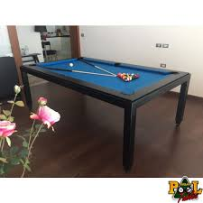 matt black dining pool table 7 5ft
