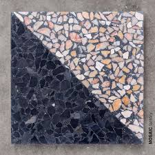 Design Your Own Mosaic Pattern Two Coloured Terrazzo With Geometric Diagonal Tile Pattern